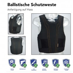 Ballistische und Stichschutzwesten mit spezifischem Hüllendesign