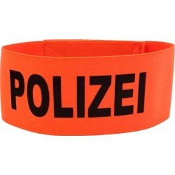 Armbinde Polizei Orange, ca. 45cm
