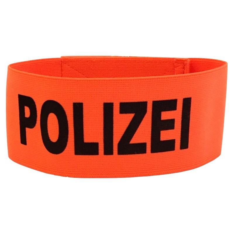 Armbinde Polizei Orange, ca. 45cm