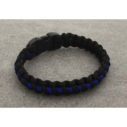"Armband ""The Thin Blue Line"" fein"