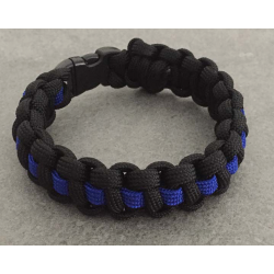 "Bracelet large ""The Thin Blue Line"""