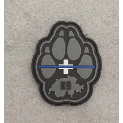 "Badge K9 ""The Thin Blue Line Switzerland"""