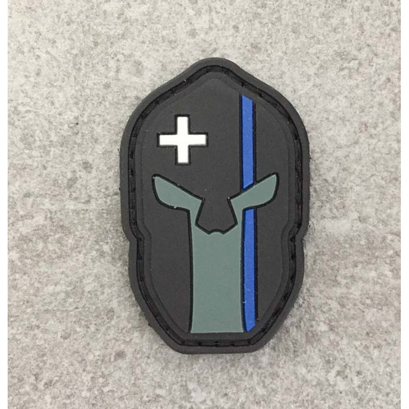 "Spartan Patch ""The Thin Blue Line Switzerland"""