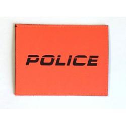 Patch Police Orange kursiv