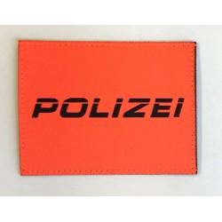 Patch Polizei Orange kursiv