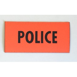 Patch Police orange 9.5 x 4.5 cm