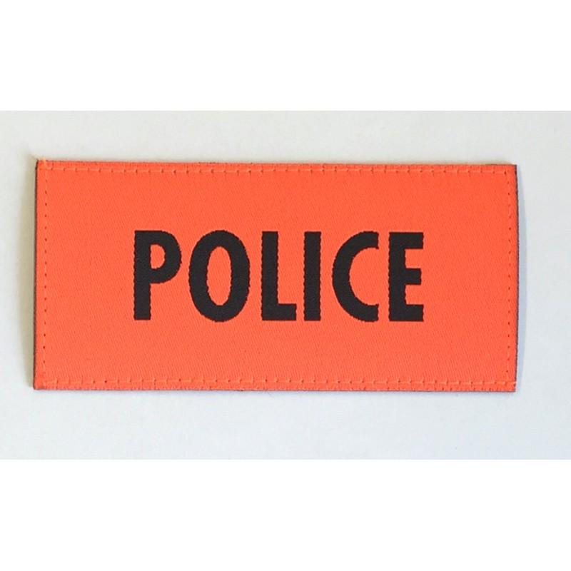 Patch Police orange 9.5 x 4.5 cm