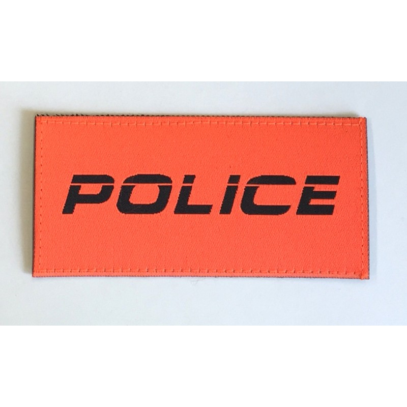 Patch Police Orange kursiv 9.5 x 4.5 cm