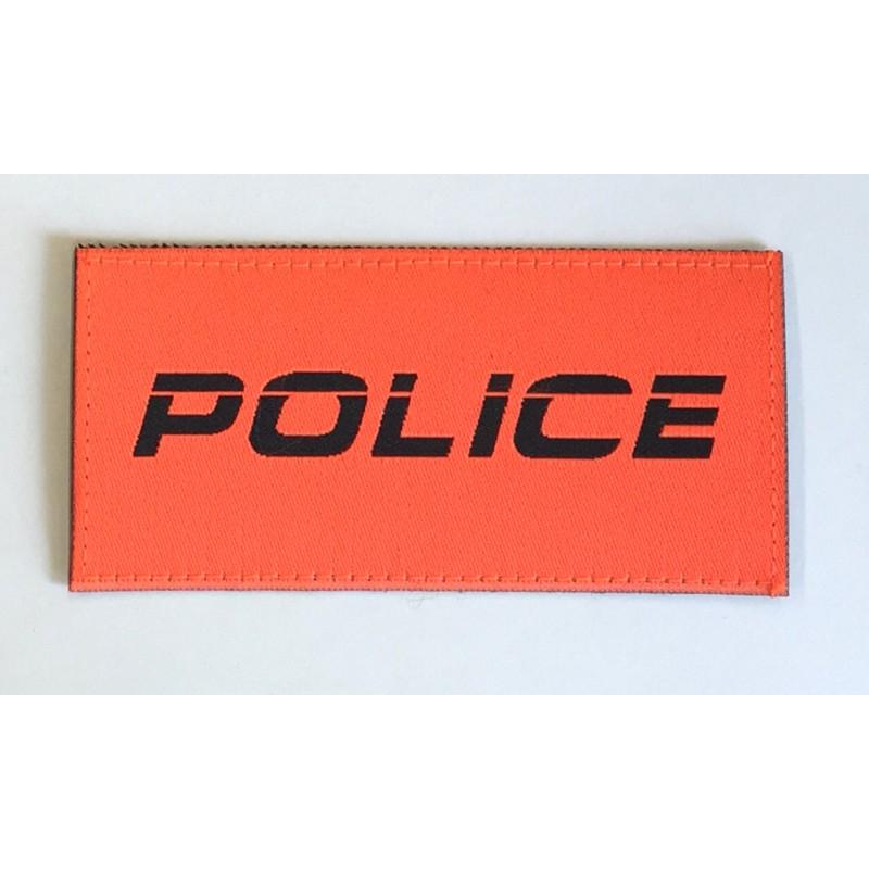 Patch Police Orange kursiv 9.5 x 4.5 cm