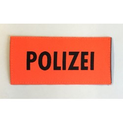 Patch Polizei Orange 9.5 x 4.5 cm