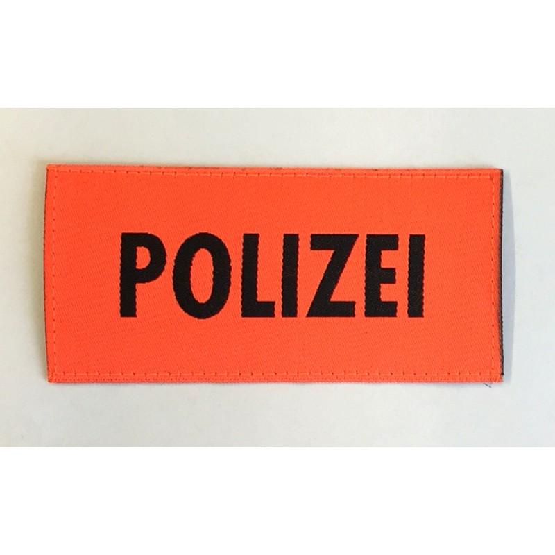 Patch Polizei Orange 9.5 x 4.5 cm