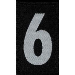 Nummer Badges gross 30x50mm