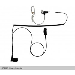 """HEADSET Hörsprechgarnitur """"lock type"""" 2 Kabel ab Stecker getrennt / 1 Spiralkabel / zu EADS TPH700"""
