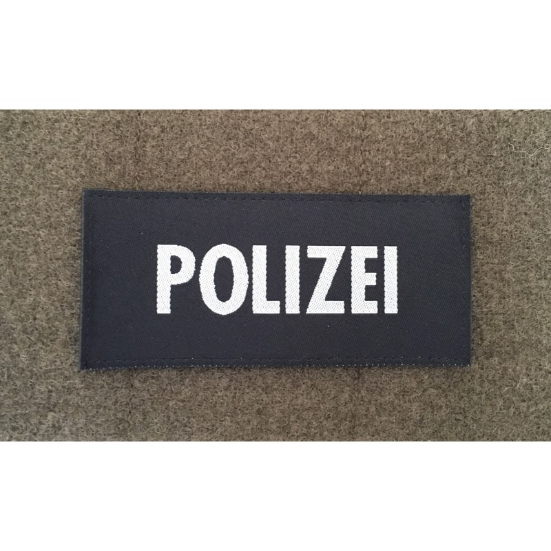Klett Polizei gewoben, 10 x 4.5 cm