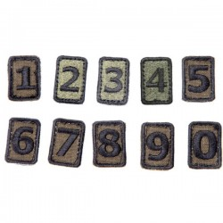Number patch w Velcro