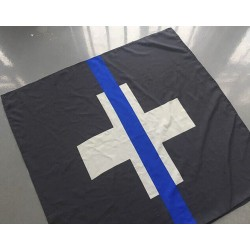"Flagge ""The Thin Blue Line Switzerland"""
