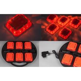 Lampes de signalisation / valise 6 pièces L4L avec capteur 2.4G