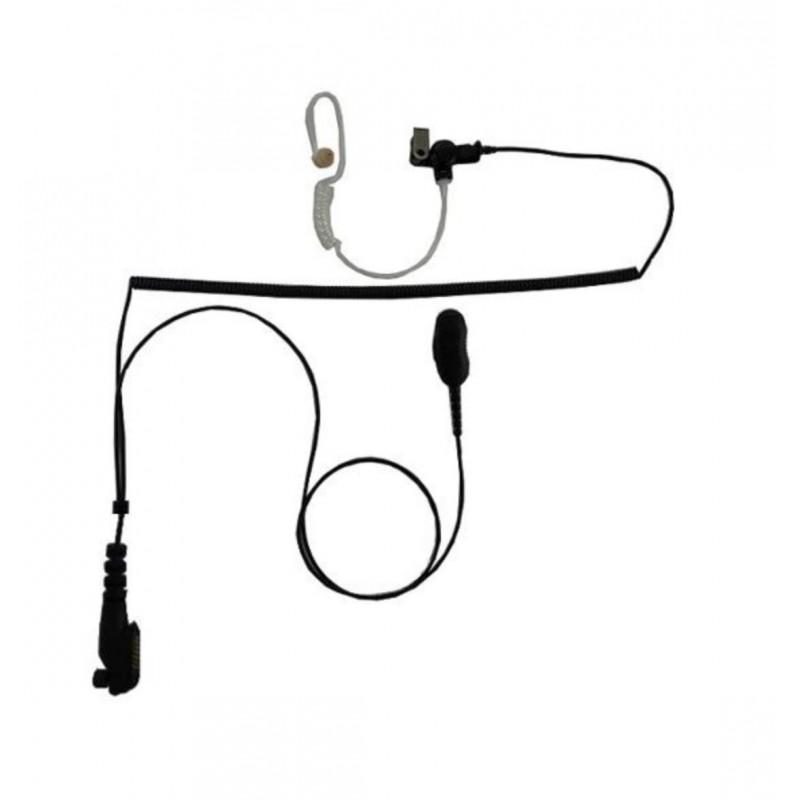 """HEADSET Hörsprechgarnitur """"lock type"""" / 2 Kabel ab Stecker getrennt / 1 Spiralkabel / zu EADS TPH900"""
