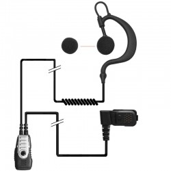 TPH700 2-Kabel Hörsprechgarnitur - flex - Split PTT/Mikro