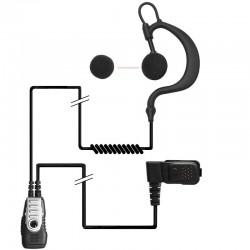 Polycome TPH700, Micro-cravate avec contour d'oreille souple
