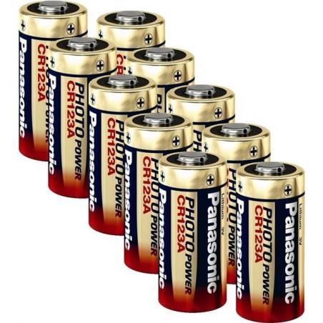 Panasonic Photo CR123 3V-Lithium Power - Pack de 10