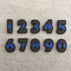 """Abzeichen Nummer """"The Thin Blue Line"""""""