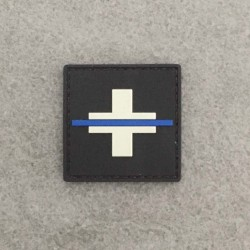 "Badge original ""Thin Blue Line Switzerland"""
