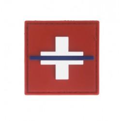 "Badge original couleurs  ""Thin Blue Line Switzerland"""