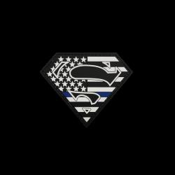 "Badge Superman ""Thin Blue..."